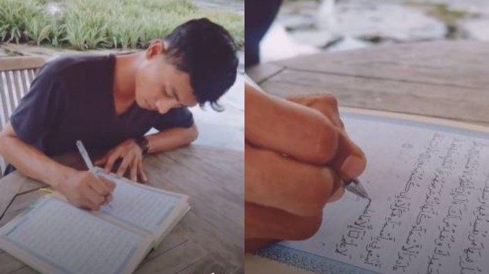 Viral Video Seorang Pemuda Menulis Alquran, Berniat akan Berikan untuk Calon Istrinya Kelak