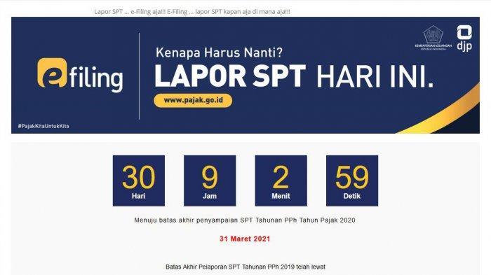 Cara Lapor SPT Tahunan via djponline.pajak.go.id, Paling Lambat 31 Maret 2021