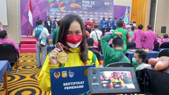 Kalahkan Woman Grandmaster, Pecatur Kaltim Chelsie Monica Sumbang 2 Medali Emas di PON XX Papua