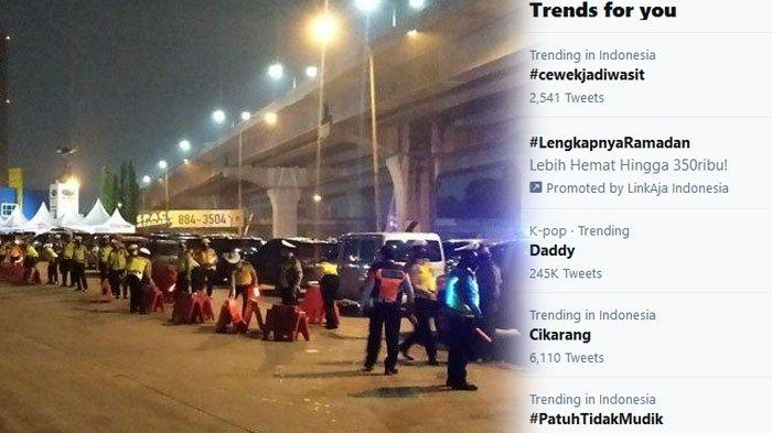 Cikarang Viral Trending Topic Twitter, Benarkah Buntut Larangan Mudik Lebaran? Polisi Turun Tangan