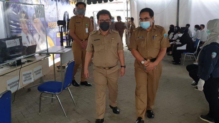 Ketua Panitia Seleksi Daerah (Panselda) yaitu Sekretaris Daerah Kalimantan Utara H.Suriansyah mengunjungi pelaksanaan seleksi kompentensi dasar (SKD) CPNS di Tanjung Selor