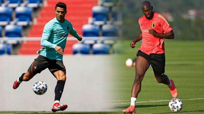 BIG MATCH 16 Besar Euro 2020, Belgia vs Portugal, Adu Tajam Cristiano Ronaldo dan Romelu Lukaku
