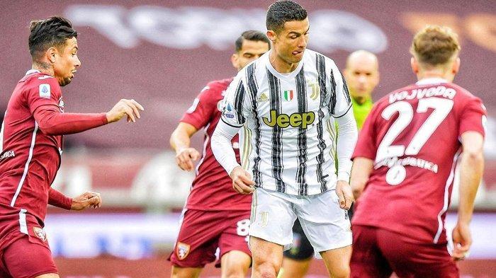 Juventus Ikuti Jejak AC Milan, Nyaris Dikalahkan Torino di Liga Italia, Gol Ronaldo Belum Cukup