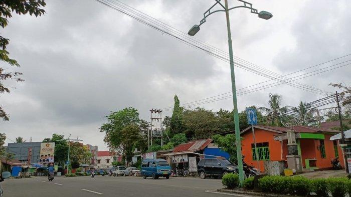 Cuaca di Kota Tarakan hari ini, Senin (7/6/2021) pantauan dari Kota Tarakan. Foto: TRIBUNKALTARA.COM/ANDI PAUSIAH