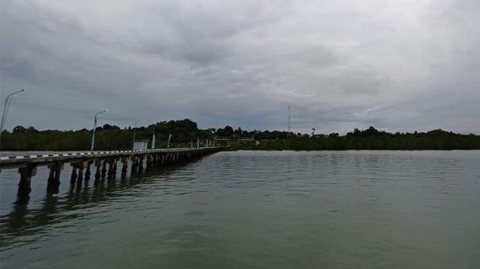 Cuaca di Kota Tarakan hari ini, Kamis (16/9/2021) pantauan dari Kota Tarakan. Foto: TRIBUNKALTARA.COM/ANDI PAUSIAH