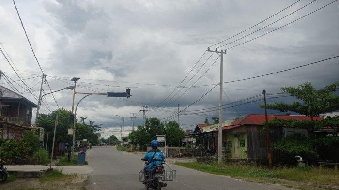 Kondisi cuaca di pada pagi hari ini tampak cerah di wilayah sekitar Kecamatan Malinau Kota, Kabupaten Malinau, Provinsi Kalimantan Utara, Kamis (3/6/2021)