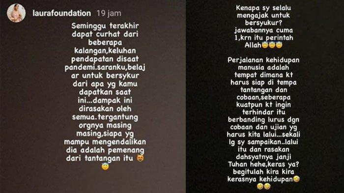 Isi kalimat curhat Bupati Nunukan yang diunggah di Instastory, akun Instagram miliknya @laurafoundation, Rabu (14/04/2021), pagi.