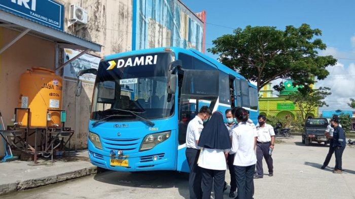 Imbas PPKM, 1 Penumpang Tetap Diangkut Damri Tanjung Selor, Kapasitas Hanya Terisi 30 Persen