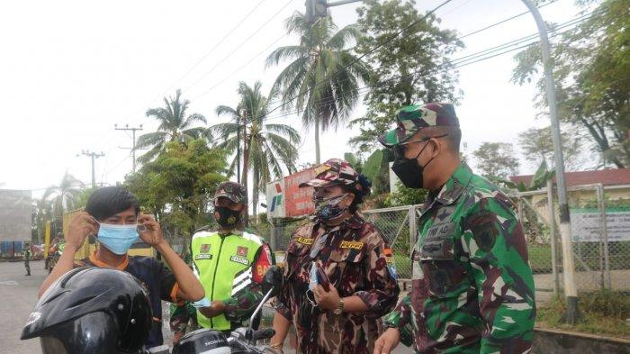 Serentak di Indonesia, Kodim 0907 Tarakan Laksanakan Patroli Penerapan Prokes Hingga 8 Februari 2020