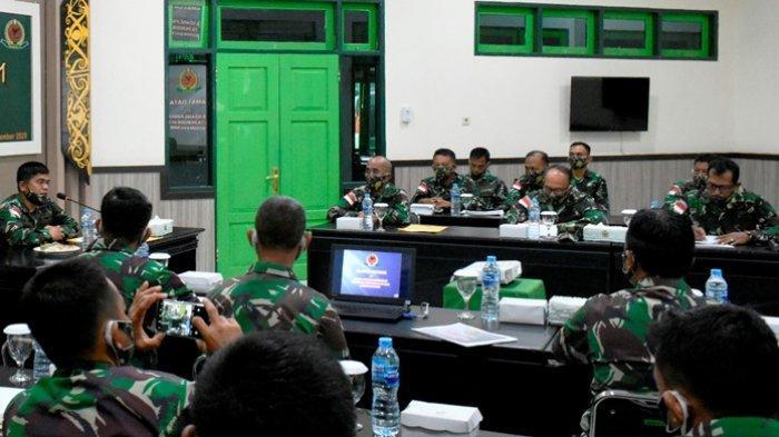 Marak Demonstrasi Tolak UU Cipta Kerja, Dandim 0911/Nunukan Bekali Dasar Hukum ke Prajurit TNI