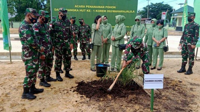 Danrem 092 Maharajalila, Brigjen TNI Suratno saat peringatan Satu Tahun Korem 092 Maharjalila ( HO / Korem 092 MaharajaliIa )