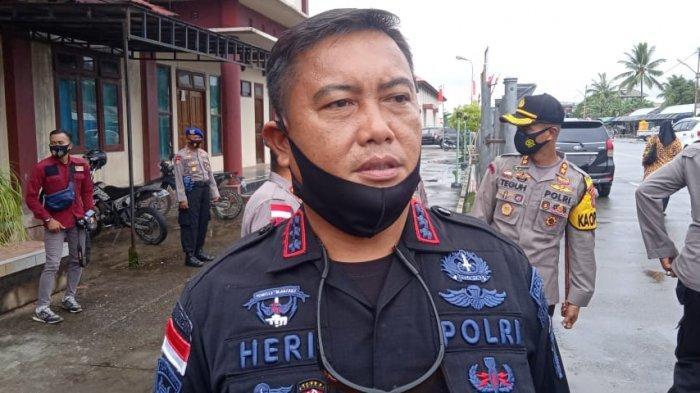 Dansat Brimob Polda Kaltara, Kombes Pol Heri Sulesmono, saat ditemui di Tanjung Selor. TRIBUNKALTARA.COM/AMIRUDDIN