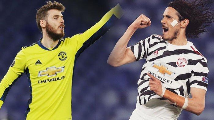 De Gea dan Cavani Gemilang, AS Roma Meradang, Man United Tantang Villarreal di Final Liga Europa