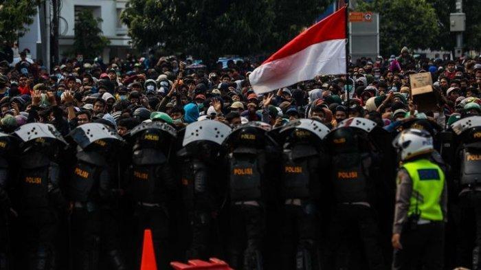 Demonstrasi tolak UU Cipta Kerja beberapa waktu lalu (Tribunnews)
