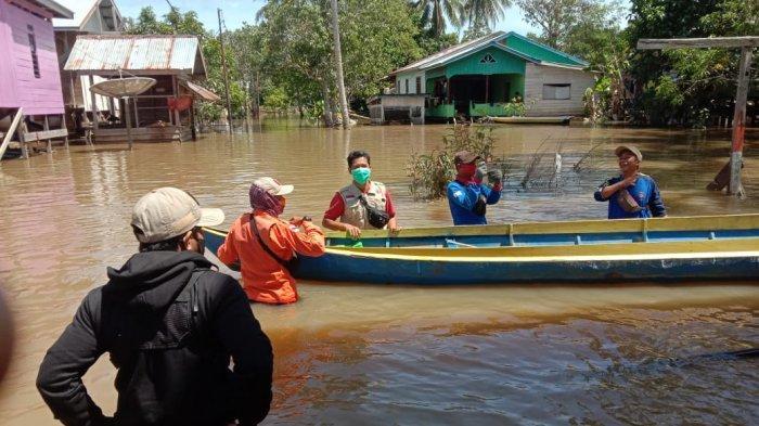 Banjir Sembakung Nunukan Surut jadi 4,35 Meter, Ketua KSB: Desa Tagul Masih Sepinggang Orang Dewasa