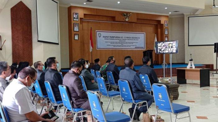 DPRD Malinau Gelar Rapat Paripurna ke-13 Secara Virtual, 6 Raperda Malinau Tahun Disahkan
