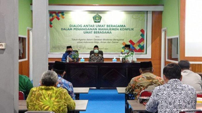 Dialog antarumat beragama dalam penanganan manajemen konflik beragama Gedung Pertemuan Keagamaan Kabupaten Malinau, Provinsi Kalimantan Utara, Kamis (22/4/2021). (TRIBUNKALTARA.COM/MOHAMMAD SUPRI)