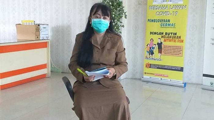 dr Devi Ika Indriarti usai menyampaikan release Covid-19 di Kota Tarakan, Rabu (4/11/20) (TRIBUNKALTARA.COM/RISNAWATI)