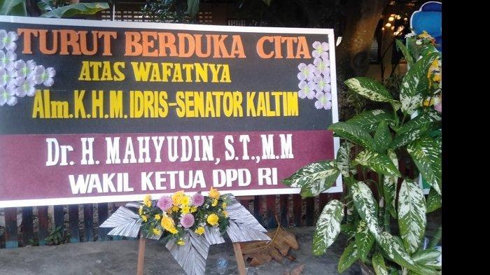 Ucapan duka cita dari Wakil Ketua DPD RI Mahyudin atas meninggalnya anggota DPD RI asal Kaltim KH Muhammad Idris