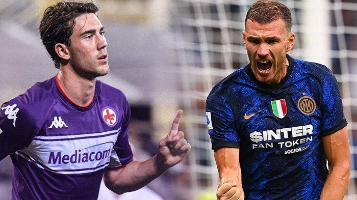 Fiorentina vs Inter Milan di Liga Italia, Adu Tajam Penyerang Balkan, Duel Vlahovic vs Dzeko