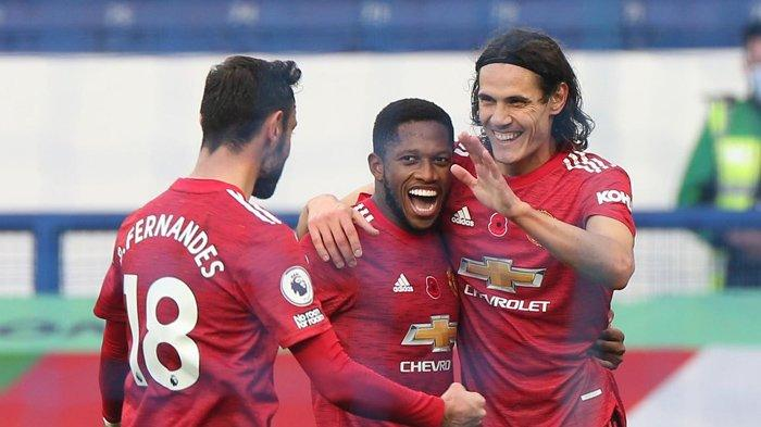 Selebrasi pemain Manchester United. (eurosport.com)