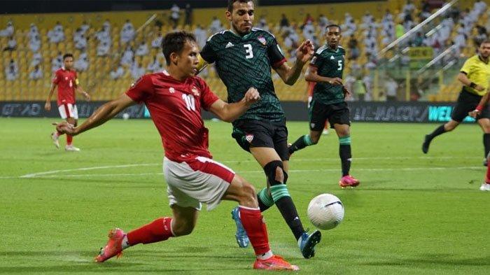 Hasil Kualifikasi Piala Dunia 2022, Timnas Indonesia Dihajar UEA 5-0, Evan Dimas Gagal Penalti