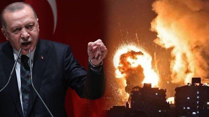 Amarah Presiden Turki Erdogan, Pasang Badan untuk Palestina, Minta Dunia Bereaksi Tegas ke Israel