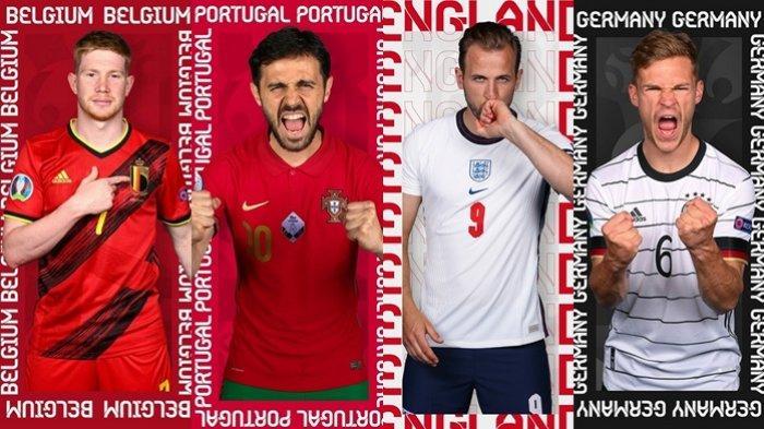 Jadwal 16 Besar Euro 2020, Ramai Duel Tim Unggulan, Belgia vs Portugal, hingga Inggris vs Jerman