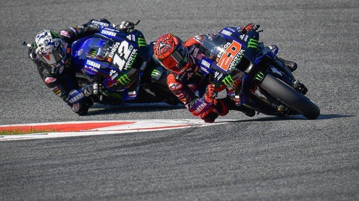 MotoGP Inggris 2021, Beda Nasib Dua Pebalap Yamaha, Quartararo di Jalur Juara, Vinales Merana