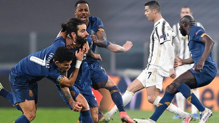 Hasil Liga Champions, Legenda Inter Milan Bawa FC Porto Singkirkan Juventus, Ronaldo Terjongkok