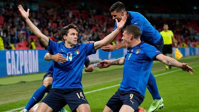 Tekuk Austria 2-1, Italia Lolos ke Perempat Final Euro 2020, Chiesa dan Matteo Pessina jadi Pahlawan