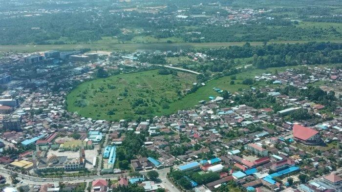 Foto udara wilayah perkotaan Tanjung Selor.