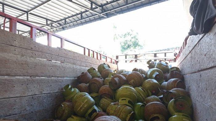 ILUSTRASI - Gas Elpiji 3 kg TRIBUNKALTARA.COM/ Febrianus Felis.
