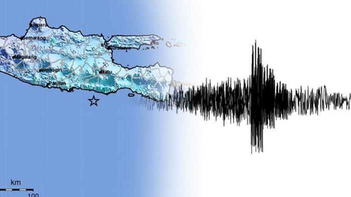 Gempa Blitar berkekuatan M 6,2, Jumat (21/05/2021). (Kolase TribunKaltara.com / Twitter @infoBMKG)