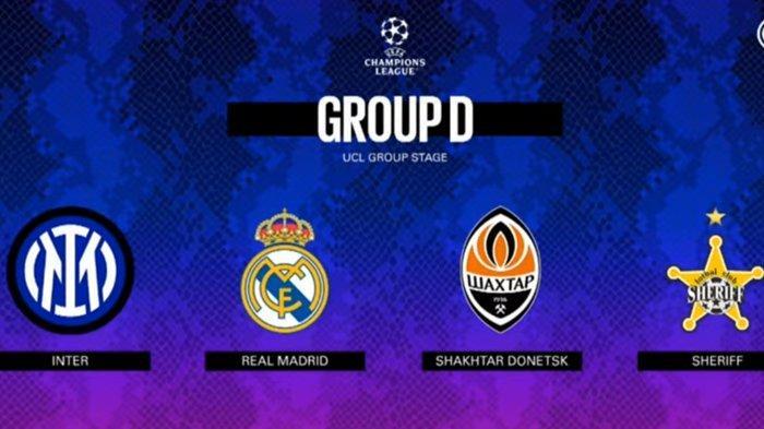 Hasil Drawing UCL Perang Pelatih Italia di Grup D Liga Champions, Inter Milan, Real Madrid, Shakhtar