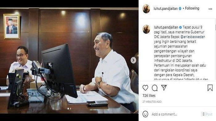 Gubernur Anies Baswedan Datangi Luhut Pandjaitan, Bicarakan Soal Banjir, Transportasi & Pariwisata