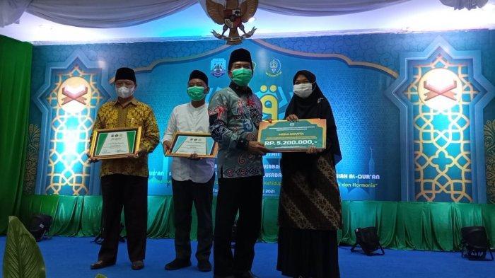 Gubernur Kaltara Zainal Paliwang saat menutup MTQ ke-VI tingkat Provinsi Kaltara di Gedung Gadis Tanjung Selor