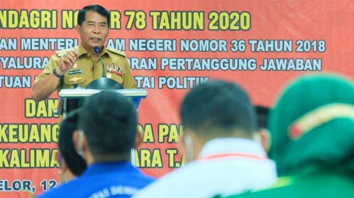 Serahkan Bantuan Keuangan, Gubernur Kaltara Harap Parpol Jadi Pelopor Penanganan Pandemi Covid-19