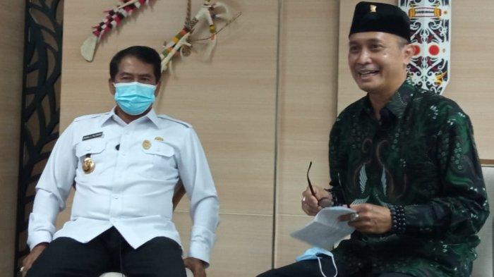 Gubernur Kaltara Zainal Paliwang saat berbincang dengan News Director Tribun Network Febby Mahendra Putra di Kantor Gubernur Kaltara, Rabu (23/6/2021) (TRIBUNKALTARA.COM / MAULANA ILHAMI FAWDI)