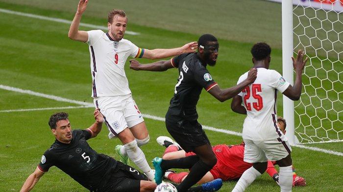 Hasil Euro 2020, Harry Kane dan Sterling Bawa Inggris ke Perempat Final, Jerman Susul Prancis