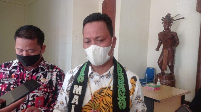 Senator DPD RI Dapil Kaltara, Hasan Basri saat ditemui di Kantor Bupati Malinau, Provinsi Kalimantan Utara, Kamis (14/10/2021).