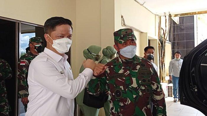 Terima Kunjungan Danrem 092 Maharajalila, Bupati Tana Tidung Ibrahim Ali Minta Tambahan Tentara