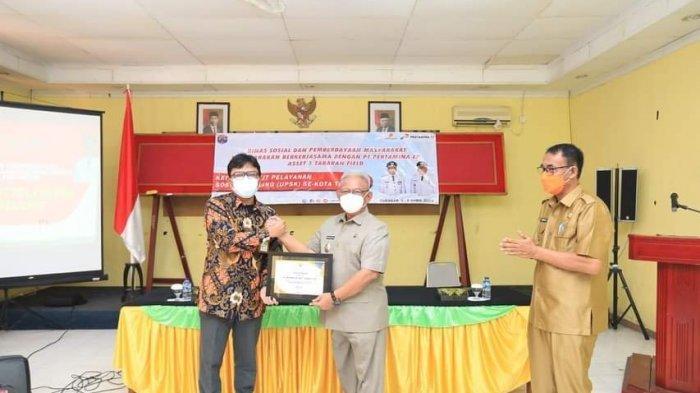 Wakil Wali Kota Tarakan Effendhi Djuprianto saat menghadiri kegiatan UPSK di UPTD LLK Tarakan.