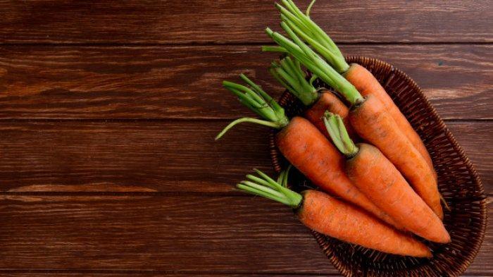 Ilustrasi wortel segar.