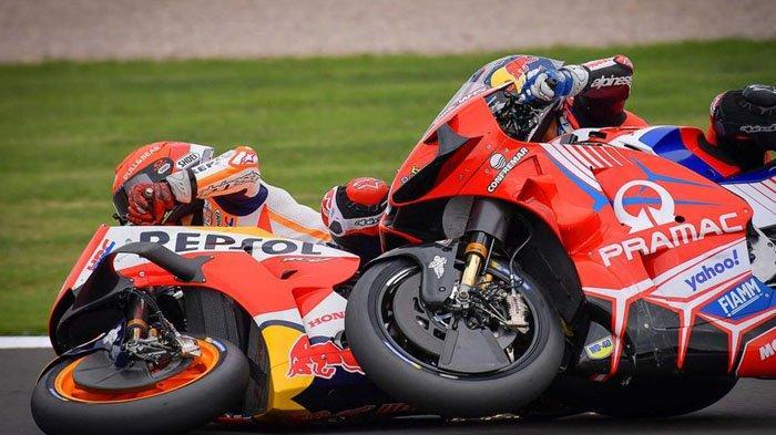 Ulah Marc Marquez di MotoGP Inggris 2021 Hancurkan Tren Bagus Pebalap Ducati, Jorge Martin Murka