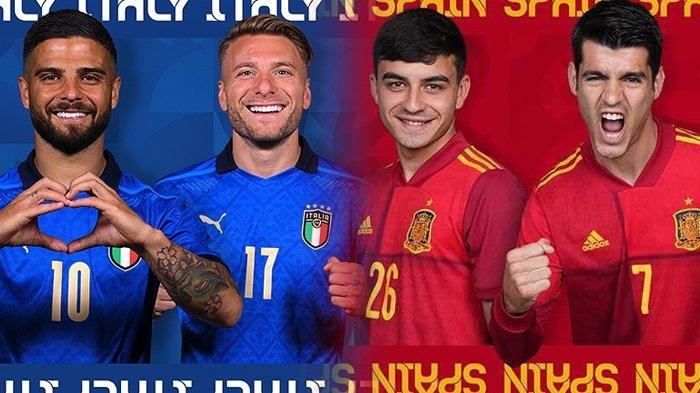 Head to Head Italia vs Spanyol Jelang Semifinal Euro 2020, Modal Penting La Furia Roja ke Final