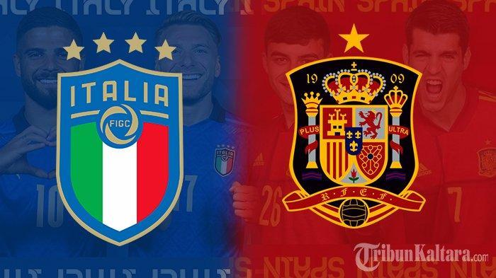 Jadwal Euro 2021 Italia vs Spanyol, Duet Bek Juventus jadi Ancaman, Live Mola TV Pukul 02.00 Wib