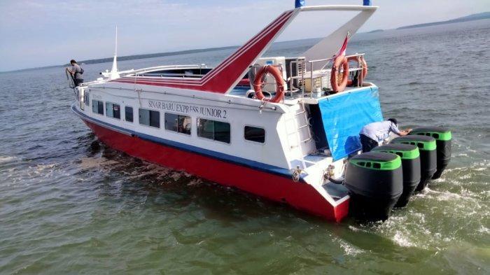 Speeboat reguler dari Pelabuhan PLBL Liem Hie Djung Nunukan menuju Pelabuhan Tarakan, Selasa (13/07/2021), pagi
