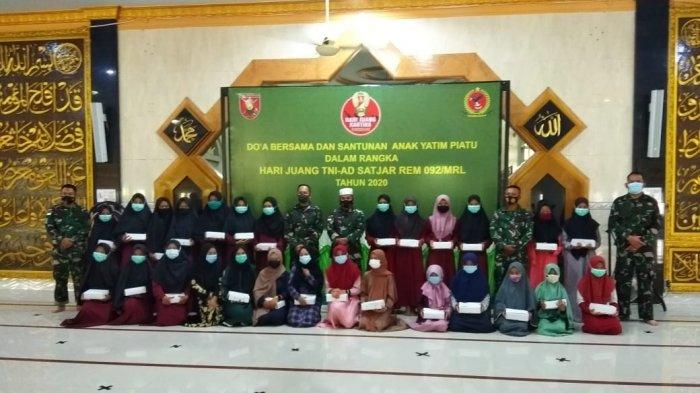 Jajaran Korem 092 Maharajalila peringati Hari Juang Kartika dengan doa bersama. TRIBUNKALTARA.COM/MAULANA ILHAMI FAWDI
