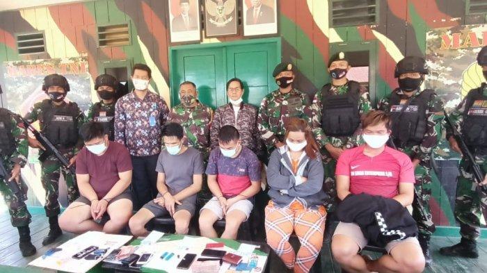 Bawa 16 Bungkus Sabu, 5 Pengedar Jaringan Tarakan Diciduk TNI Penjaga Perbatasan RI-Malaysia